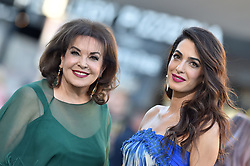 """Los Angeles Premiere of """"Suburbicon"""". Regency Village Theatre, Westwood, California. 22 Oct 2017 Pictured: Amal Clooney,Baria Alamuddin. Photo credit: AXELLE/BAUER-GRIFFIN / MEGA TheMegaAgency.com +1 888 505 6342"""