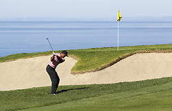 January 27, 2019 - San Diego, CA, USA - Tiger Woods hits to the 4th green during the fourth round of the Farmers Insurance Open at the Torrey Pines Golf Course in San Diego on Sunday, Jan. 27, 2019. (Credit Image: © K.C. Alfred/San Diego Union-Tribune/TNS via ZUMA Wire)