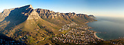 Table Mountain and the Twelve Apostles with the Atlantic Ocean to the right. Stitched panoramic image. Greg Beadle shoots panoramic images