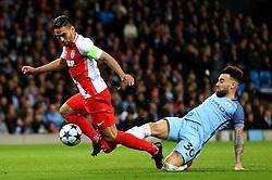 Nicolas Otamendi of Manchester City fouls Radamel Falcao Garcia of Monaco resulting in a penalty  - Mandatory by-line: Matt McNulty/JMP - 21/02/2017 - FOOTBALL - Etihad Stadium - Manchester, England - Manchester City v AS Monaco - UEFA Champions League - Round of 16 First Leg