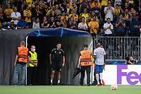 BERN, SWITZERLAND - SEPTEMBER 14: Aaron Wan-Bissaka of Manchester United walks down the tunnel after being shown a red card by Referee François Letexier during the UEFA Champions League group F match between BSC Young Boys and Manchester United at Stadion Wankdorf on September 14, 2021 in Bern, Switzerland. (Photo by FreshFocus/MB Media)