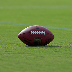 31 July 2009: A football on the field during the opening day of New Orleans Saints training camp held at the team's practice facility in Metairie, Louisiana.