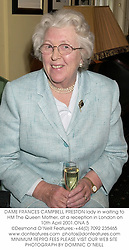 DAME FRANCES CAMPBELL PRESTON lady in waiting to HM The Queen Mother, at a reception in London on 10th April 2001.ONA 5