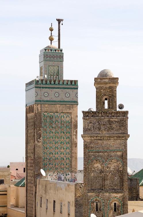 Bou Inania minaret Fes el Bali Morocco