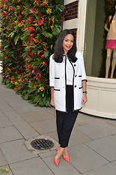 SARAH-JANE CRAWFORD at a 'Tropical fete' at Kate Spade New York, 2 Symons Street, Sloane Square, London in celebration of the Chelsea Flower Show on 22nd May 2014.
