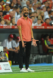 05.08.2015, Allianz Arena, Muenchen, GER, AUDI CUP, FC Bayern Muenchen vs Real Madrid, im Bild Trainer Pep Guardiola (FC Bayern Muenchen) unzufrieden // during the 2015 Audi Cup Match between FC Bayern Munich and Real Madrid at the Allianz Arena in Muenchen, Germany on 2015/08/05. EXPA Pictures © 2015, PhotoCredit: EXPA/ Eibner-Pressefoto/ Stuetzle<br /> <br /> *****ATTENTION - OUT of GER*****