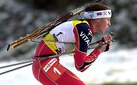 Skiskyting, 12. desember 2003, Gro Kristiansen Istad (NOR)  Norge Biathlon Norwegen<br /> Weltcup Hochfilzen