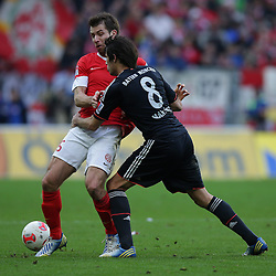 02.02.2013, Coface Arena, Mainz, GER, 1. FBL, 1. FSV Mainz 05 vs FC Bayern Muenchen, 20. Runde, im Bild Andreas IVANSCHITZ (FSV Mainz 05 - 25) - Javier MARTINEZ (FC Bayern Muenchen - 8) // during the German Bundesliga 20th round match between 1. FSV Mainz 05 and FC Bayern Munich at the Coface Arena, Mainz, Germany on 2013/02/02. EXPA Pictures © 2013, PhotoCredit: EXPA/ Eibner/ Gerry Schmit..***** ATTENTION - OUT OF GER *****