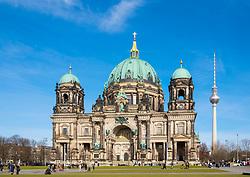 View of Berlin Cathedral , Berliner Dom, in Lustgarten Park on Museumsinsel in Mitte Berlin, Germany
