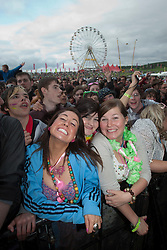 Fans at Plan B on the main stage..Rockness, Saturday 12th June 2010..Pic ©2010 Michael Schofield. All Rights Reserved.