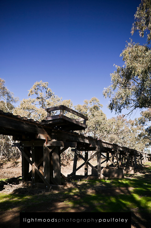 Single Track Rail Bridge, Western NSW, Australia