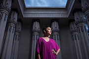 Singer-songwriter Amy Dabalos poses for a portrait at the Rosicrucian Egyptian Museum in San Jose, California, on July 1, 2015. (Stan Olszewski/SOSKIphoto for Content Magazine)