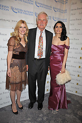 Left to right, ELIZABETH DEWBERRY, TED TURNER and RENU MEHTA founder of Fortune Forum at the 3rd Fortune Forum Summit held at The Dorchester Hotel, Park Lane, London on 3rd March 2009.
