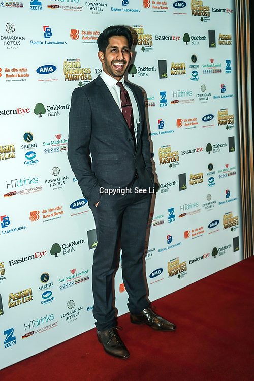 Actor Sagar Radia attands the 2017 Asian Business Awards,London,UK. by See Li