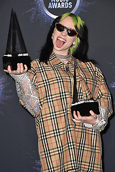 Billie Eilish, winner of New Artist of the Year and Favorite Artist - Alternative Rock, poses in the press room during the 2019 American Music Awards at Microsoft Theater on November 24, 2019 in Los Angeles, CA, USA. Photo by Lionel Hahn/ABACAPRESS.COM