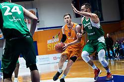 Blaz Mahkovic KK Helios Suns during 9. round of Slovenian national championship between teams Helios Suns and Zlatorog Lasko in Sport Hall Domzale on 30. November 2019, Domzale, Slovenija. Grega Valancic / Sportida