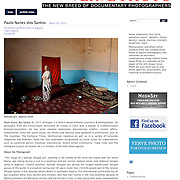 "Tearsheet of ""Saharawi girl"" published in Verve Photo"