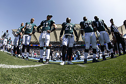 during the NFL game between the Philadelphia Eagles and the Los Angeles Chargers at Stubhub Center in Carson, CA on Sunday October 1st 2017. (Brian Garfinkel/Philadelphia Eagles)