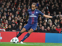Football - 2016 / 2017 UEFA Champions League - Group A: Arsenal vs. Paris Saint-Germain<br /> <br /> Lucas of PSG  at The Emirates.<br /> <br /> COLORSPORT/ANDREW COWIE