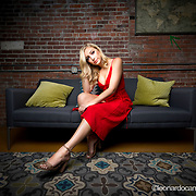 Portraits of Ally Gille testing the new GodoxAD400Pro lights (photo by Leonardo Carrizo)