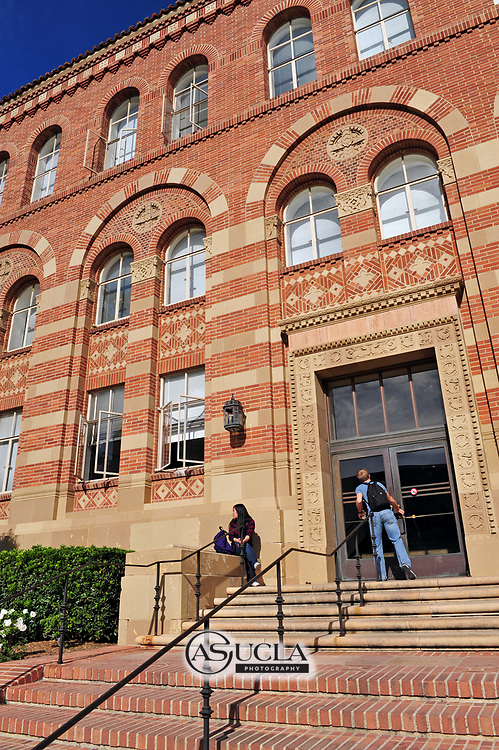 ASUCLA Photography Archive -  Exterior image of UCLA Haines Hall, UCLA Campus. University of California Los Angeles, Westwood, California.<br /> <br /> Copyright: ASUCLA
