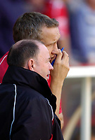 Photo: Leigh Quinnell.<br /> Nottingham Forest v Bristol City. Coca Cola League 1. 21/10/2006. Bristol City boss Gary Johnson chats with asst manager Keith Millen(R)