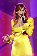 """Auftritt von Andrea Berg bei der SRF-Pop-Schlager-Show """"Hello Again"""". Aufzeichnung vom 14. April 2019 in den Fernsehstudios Zürich."""
