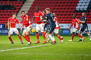 Southend United defender Michael Turner (6) gains possession of the ball, turns and shoots wide during the EFL Sky Bet League 1 match between Charlton Athletic and Southend United at The Valley, London, England on 9 February 2019.