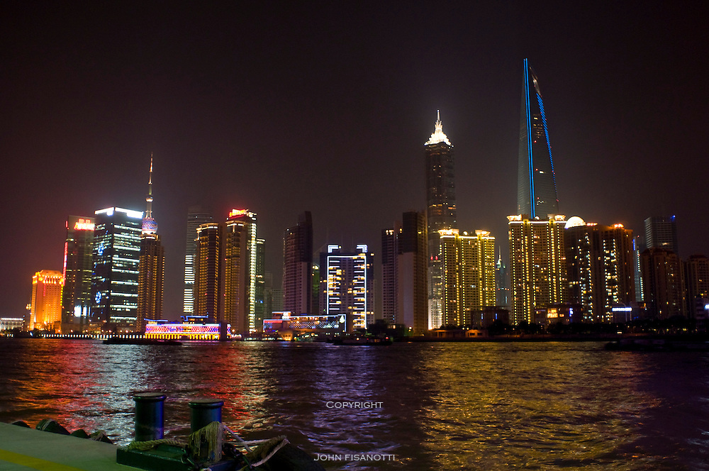 Another view of the Pudong District from dockside at the Huangpo River