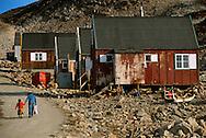Street scene, Scoresbysund, Ittoqqottormiit, North East Greenland National Park, Greenland, Arctic