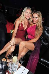 Left to right, CAPRICE BOURRET and ELEN RIVAS at the inaugural Gabrielle's Gala in London in aid of Gabrielle's Angel Foundation for Cancer Research held at Battersea Power Station, London on 7th June 2012.