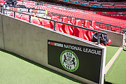The Forest Green Rovers bench during the Vanarama National League Play Off Final match between Tranmere Rovers and Forest Green Rovers at Wembley Stadium, London, England on 14 May 2017. Photo by Shane Healey.