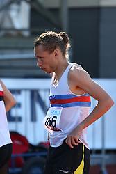 Andreas Bube, Denmark, preparing for the 800m. Folksam Grand Prix Göteborg, Slottskogsvallen, 14. juni 2014.