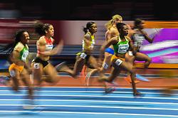 March 2, 2018 - Birmingham, England, United Kingdom - Murielle Ahouré ofivory Coast winning the 60 meter final at World indoor Athletics Championship 2018, Birmingham, England on March 2, 2018. (Credit Image: © Ulrik Pedersen/NurPhoto via ZUMA Press)