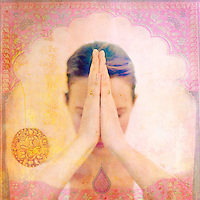 """Woman with pink <br /> <br /> Worldwide Exclusive Book rights (only) licensed to Watkins Media Ltd """"Everyday Kundalini""""<br /> <br /> All other rights are available for licensing. <br /> <br /> <br /> <br /> """"To practice asana means to practice perfecting one's relationship with all aspects of the Earth and all being that inhabit the Earth.""""<br /> -Sharon Gannon and David Life<br /> <br /> http://www.amberlotus.com/yoga-meditations-2017-calendar/"""