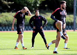 Arsenal's Alexis Sanchez during the training session at London Colney.