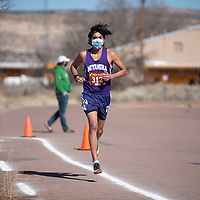 Miyamura junior Tayan Benson competes in the Curtis Williams Cross Country Invitational at Rehoboth Christian High School Saturday in Rehoboth. Benson completed the 3.1 mile course as the boys individual champion with a time of 19:02.76.
