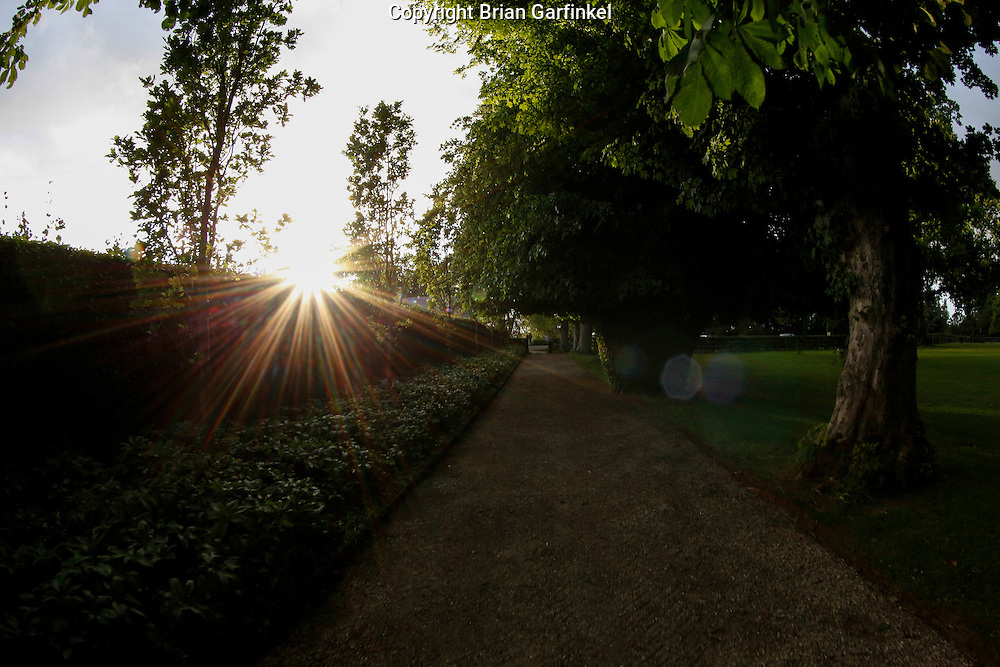 A view as the sun begins to set from Ardenode Stud, County Kildare, Ireland on Sunday, June 23rd 2013. (Photo by Brian Garfinkel)