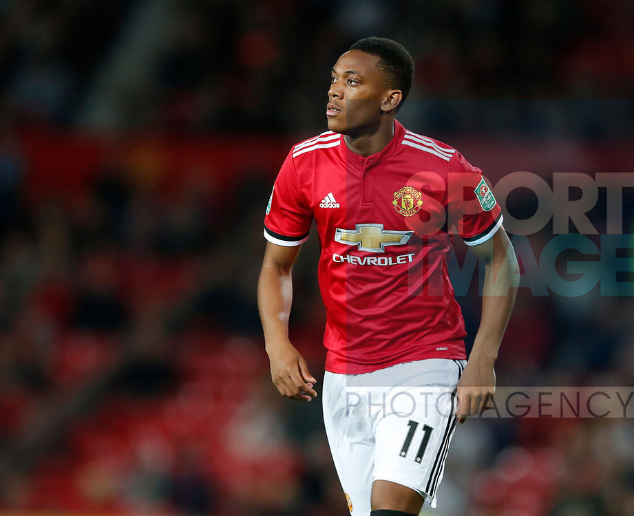 Anthony Martial of Manchester United during the Carabao Cup Third Round match at the Old Trafford Stadium, Manchester. Picture date 20th September 2017. Picture credit should read: Simon Bellis/Sportimage