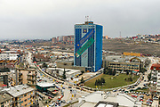 A general overview of Rilindja Tower, which is a government office building for the Government of Kosovo. At 89 meters high it holds 19 floors, Feb 15, 2009. (Photo/ Vudi Xhymshiti)