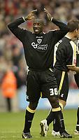 Photo: Aidan Ellis.<br /> Barnsley v Cardiff City. Coca Cola Championship. 29/09/2007.<br /> Cardiff's  jimmy Floyd Hasselbaink celebrates scoring with his head