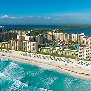 Aerial view of thr Royal Resorts Cancun.