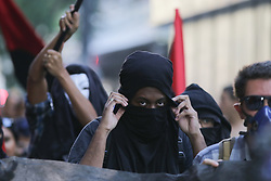 September 7, 2017 - Sao Paulo, Brazil - A group of people clashed with the police in demonstration against the repression of rights, against corruption and abuses of the state on the day that commemorates the independence of the country in the street of Consolacao in Sao Paulo (Credit Image: © Dario Oliveira via ZUMA Wire)