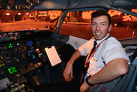 An environmental portrait of a Boeing 737 pilot