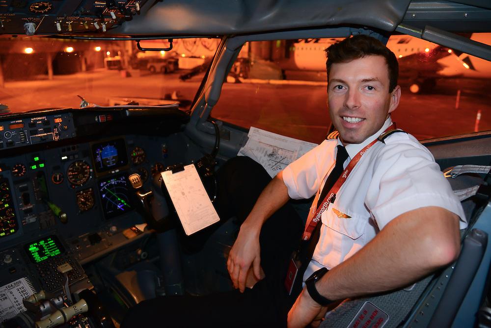 An environmental portrait of a Boeing 737 pilot