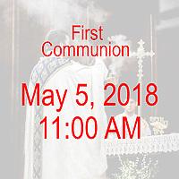 St Ann 1st Communion 11AM 05-05-18