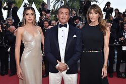 """Jennifer Flavin, Sylvester Stallone and Sophia Rose Stallone attend the closing ceremony screening of """"The Specials"""" during the 72nd annual Cannes Film Festival on May 25, 2019 in Cannes, France. Photo by Lionel Hahn/ABACAPRESS.COM"""
