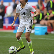 Morgan Brian, U.S. Women's National Team in action during the U.S. Women's National Team Vs Korean Republic, International Soccer Friendly in preparation for the FIFA Women's World Cup Canada 2015. Red Bull Arena, Harrison, New Jersey. USA. 30th May 2015. Photo Tim Clayton