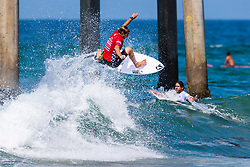 Joan Duru (FRA) advances to Round 3 of the 2018 VANS US Open of Surfing after winning Heat 14 of Round 2 at Huntington Beach, California, USA.