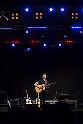 @Licensed to London News Pictures 10/09/17. Singer songwriter Newton Faulkner performs at the Hop & Harvest Festival in Maidstone in Kent.  Photo credit: Manu Palomeque/LNP